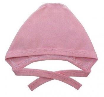 Чепчик из интерлока розовый на рост ребенка  38 см, 42 см