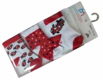 Носочки  в упаковке красные, 0-1 мес., 3 шт., Pera Maya, Турция