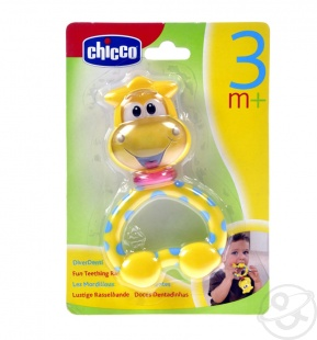 """Развивающая игрушка-погремушка-прорезыватель """" Жираф"""", Chicco, Италия"""