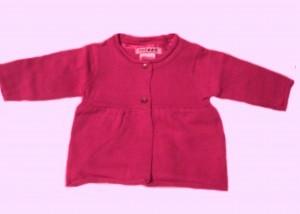 Кардиган темно-розовый, рост 50 см,Coccon, Франция