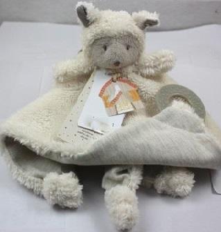 Меховая игрушка комфортер  Овечка с кольцом