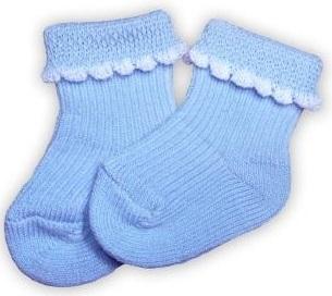 Носочки  голубые, 100% хлопок,  3-4 см, 4-6 см