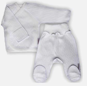 """Комплект """"Ажур"""" Белый  на выписку из интерлока: распашонка и штанишки со следом,  на рост 46 см"""