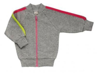 Куртка Lucky Child из футера с начесом на молнии для девочки,  на рост 56 см