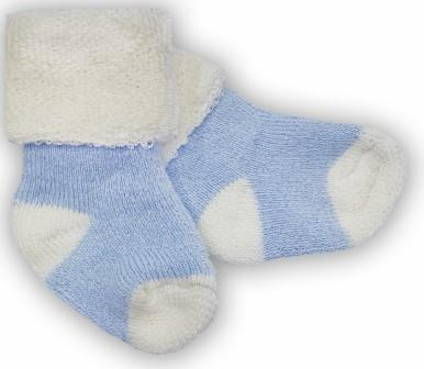 Носочки  махровые, голубые с белым, р. 3-4 см, 4-6 см