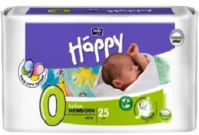 Подгузники Bella Happy Before Newborn  до 2 кг, 25 шт.