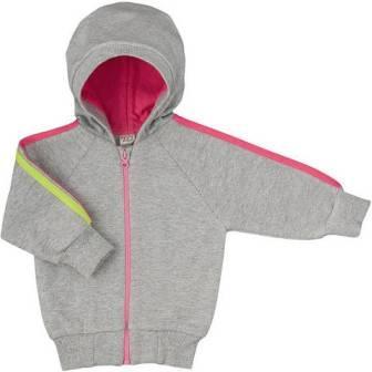 Куртка Lucky Child из футера  с капюшоном  теплая на молнии для девочки,  на рост 56 см