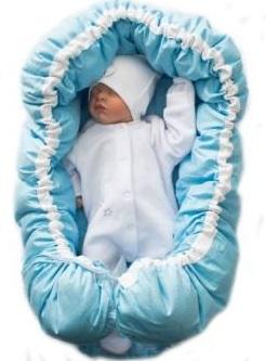 Гнездышко кокон  голубое  в кувез для  недоношенных  детей  весом от 1 до 3 кг