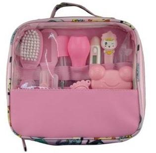 Набор по уходу за младенцем из  13  предметов, розовый