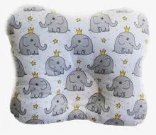 Ортопедическая подушка-бабочка для новорожденного, слоники, 0-6 мес.