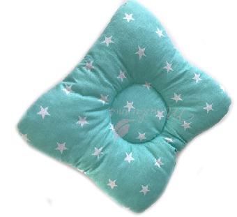 Ортопедическая подушка-бабочка  для новорожденного, звезды на мятном, 0-6 мес.