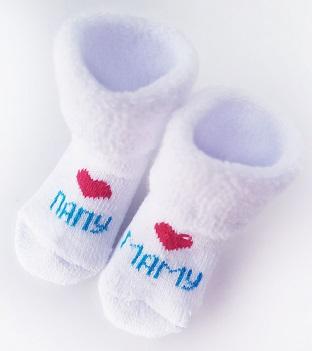 Носочки  махровые Мама Папа,  4-6 см