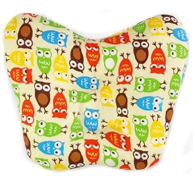 Ортопедическая подушка-бабочка для новорожденного, совы, 0-6 мес.