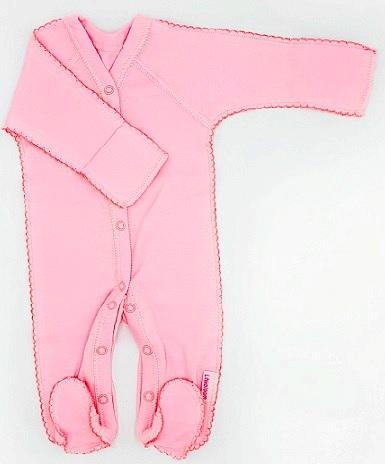 """Комбинезон """"Просто Розовый из интерлока, на рост 46 см, 50 см"""