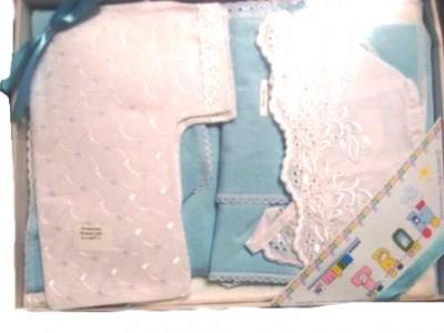 Комплект для новорожденного голубой из 7-и предметов в подарочной коробке