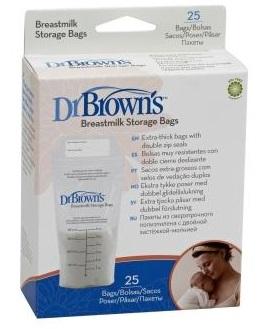 Пакеты для хранения грудного молока 180 мл, 25 шт., Dr.Brown's