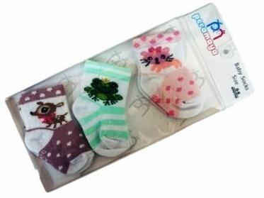 Носочки  в упаковке  светлое  ассорти, 0-1 мес., 3 шт., Pera Maya, Турция