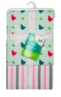 """Пеленки фланелевые """"Babydays"""" """"Птички"""" розовые 2 шт. в подарочной упаковке , 76х76 см."""