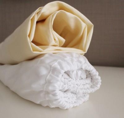 Комплект простыней для кроватки  60х120см, шампань/белый