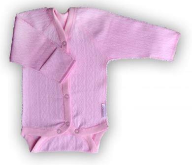 """Боди из интерлока """"Ажур"""" розовый,  на рост  50 см"""