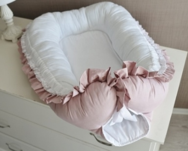 """Гнездышко кокон babynest """"Сказка"""" для младенца, размер 15х57х85см, розовый"""