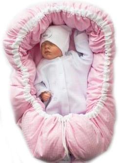 Гнездышко кокон  в кувез  розовое  для  недоношенных  детей  весом от 1 до 3 кг