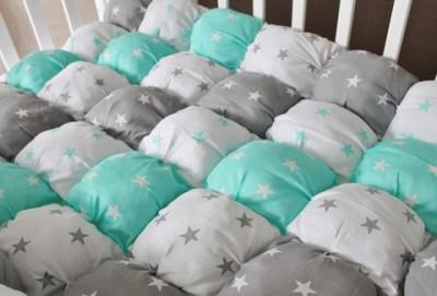 Одеяло Bombon Звезды мятное, 120*77см