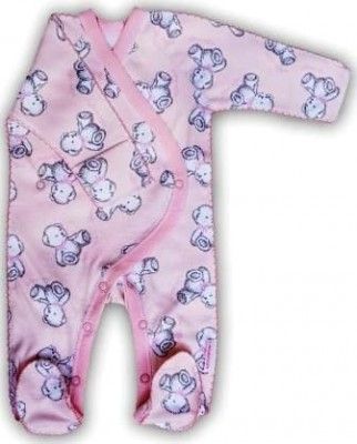 """Комбинезон """"Тедди""""  Розовый из интерлока , шов мережка,  на рост 50 см"""