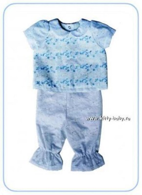 Крестильный комплект для мальчика из  рубашечки и штанишек, рост 68 см
