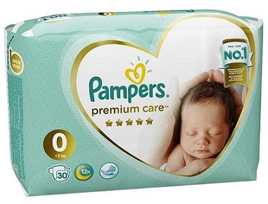 Подгузники Pampers Premium Care 0 ( до 3 кг), 30 шт.