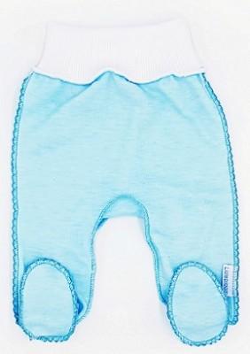 """Штанишки со следом  """"Просто голубые"""" из интерлока, на рост 46 см"""